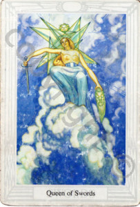 Queen of Swords in the Thoth (a well shuffled version!)